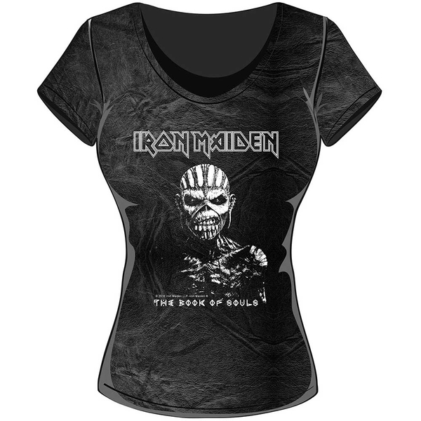 Iron Maiden - The Book of Souls Women's XX-Large T-Shirt - Black,Grey