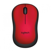 Logitech M220 Wireless Mouse Silent Buttons Red