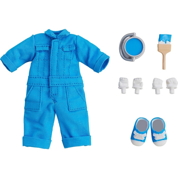 Original Character Parts for Nendoroid Doll Figures Outfit Set Colorful Coveralls - Blue