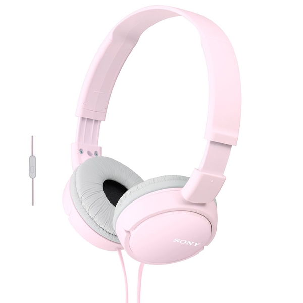 Sony MDRZX110APP Over Ear Sound Monitoring Headphones with Smartphone Mic & Control - Pink
