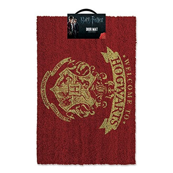 Harry Potter Welcome To Hogwarts Doormat, Red & Gold