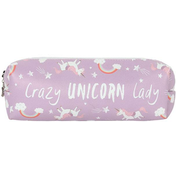 Lilac Crazy Unicorn Pencil Case