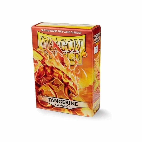 Dragon Shield Tangerine Classic Card Sleeves - 60 Sleeves