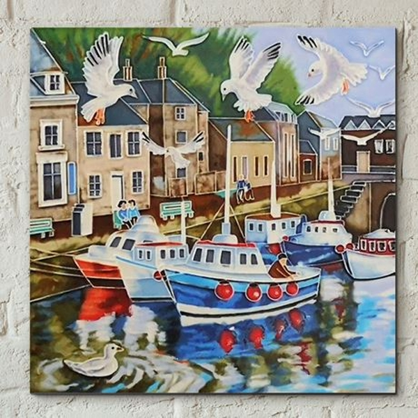 Tile 8x8 Padstow By J. Yates Wall Art