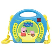 Lexibook RCDK100PP Peppa Pig CD Player with Microphones UK Plug