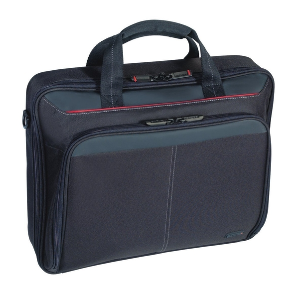 Targus Classic Clamshell Case for 16-Inch Laptops, Black with Red Accents (CN31US)
