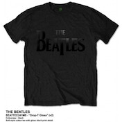 The Beatles Drop T Black Logo T Shirt: Small