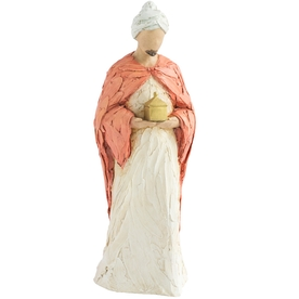 More than Words Nativity Figurines Wise Man Red (Frankincense)