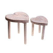Sass & Belle Heart Stools (Set of 2)