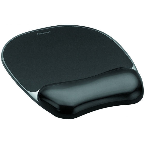 Fellowes Crystal Gel Mouse Pad + Wrest Black 9112101