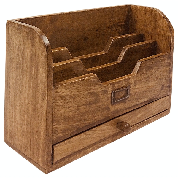 Letter Rack with Drawer