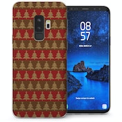CASEFLEX SAMSUNG GALAXY S9 PLUS CHRISTMAS TREE KNIT JUMPER (BROWN/RED) CASE / COVER (3D)