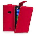 YouSave Accessories Nokia Lumia 625 Leather-Effect Flip Case - Red