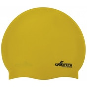 SwimTech Silicone Swim Cap Yellow
