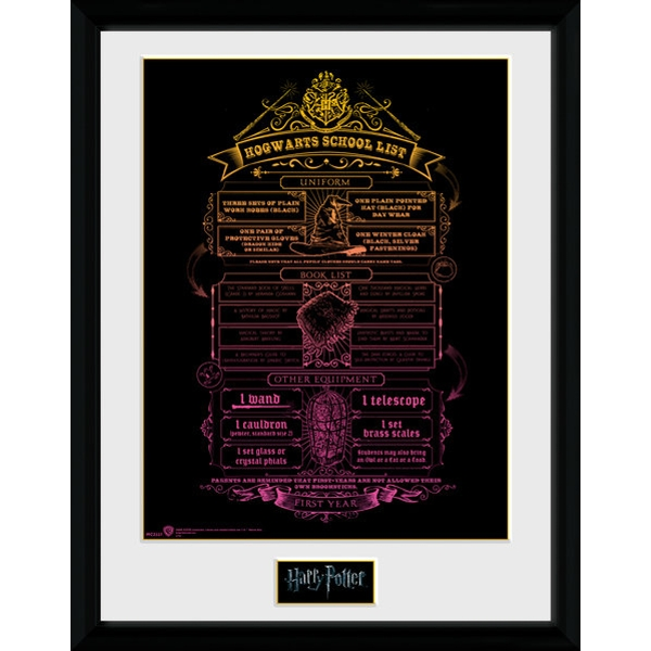 Harry Potter Hogwarts List Collector Print