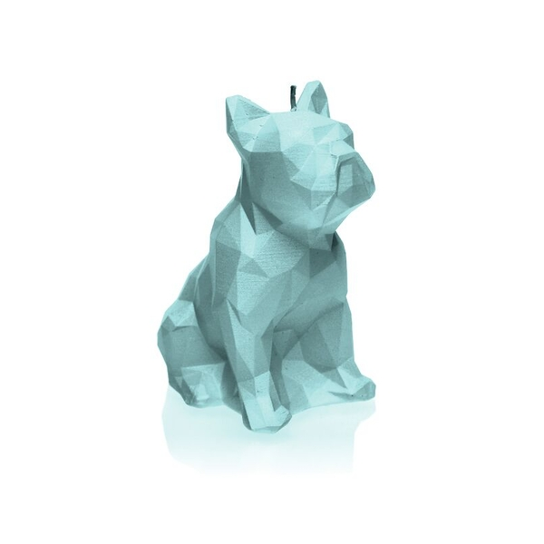 Mint Low Poly Bulldog Candle