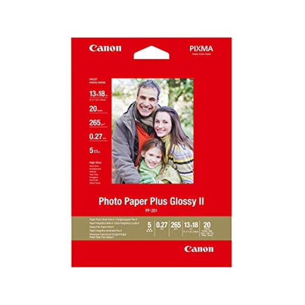 Canon PP-201 Glossy II Photo Paper Plus 13cm x 18cm - 20 Sheets