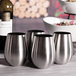 Pack of 4 Stainless Steel Wine Glasses | M&W - Image 2