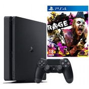 PlayStation 4 (1TB) Black Console + Rage 2 PS4 Game