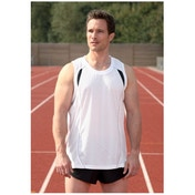 PT Mens Running Vest (White/Black/Silver) 30-32inch