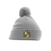 Harry Potter - Hufflepuff Crest Pom Beanie - Grey