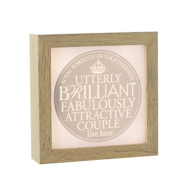 Light Up Frame Brilliant Couple By Heaven Sends