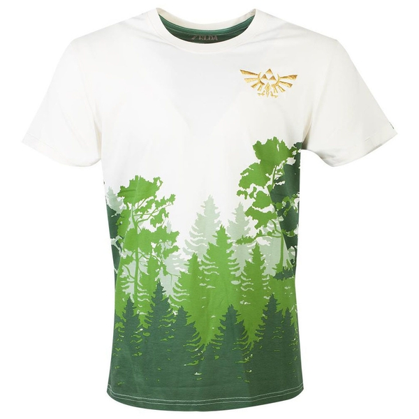 Nintendo - Hyrule Forrest Men's X-Large T-Shirt - Multi-Colour
