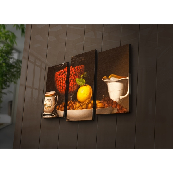 3PAT?ACT-8 Multicolor Decorative Led Lighted Canvas Painting (3 Pieces)