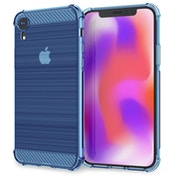Caseflex iPhone XR Carbon Fibre Effect Gel Case - Light Blue
