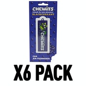 Blackcurrant (Pack Of 6) Chewits 3D Hanging Air Freshener