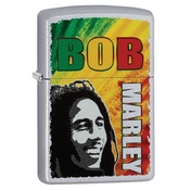 Zippo Bob Marley Satin Chrome Regular Lighter