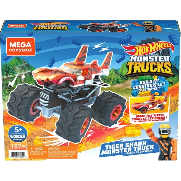 Hot Wheels - Contrux Tiger Shark Truck Toy