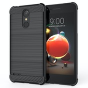 CASEFLEX LG K8 (2018) CARBON ANTI FALL TPU CASE - BLACK