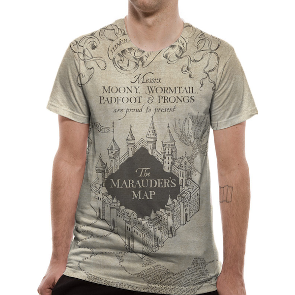 f1e17dd09 Hey! Stay with us... Harry Potter - Marauders Map Sublimated Men's X-Large T -Shirt ...