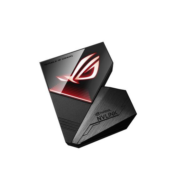 Asus ROG-NVLINK 4-Slot Bridge with RGB Lighting, for RTX NVLink SLI-ready Graphics Cards