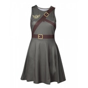 Nintendo Legend of Zelda Woman's Link Outfit Sleeveless Large Dress - Military Green