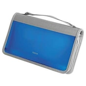 Hama CD/DVD/Blu-ray Wallet 96, blue/silver