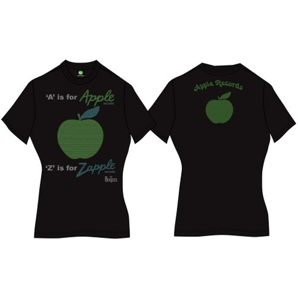 The Beatles - A is for Apple Women's T-Shirt - Black