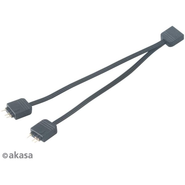Akasa 1-to-2 Addressable RGB LED Splitter Cable
