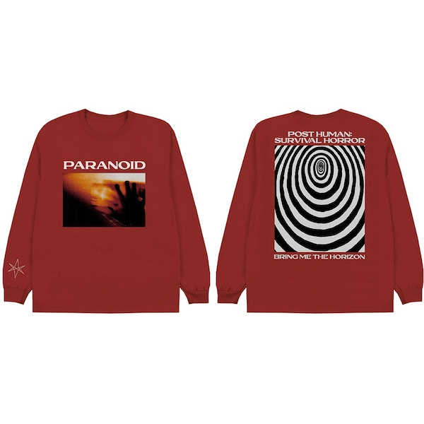 Bring Me The Horizon - Paranoid Unisex Small T-Shirt - Red