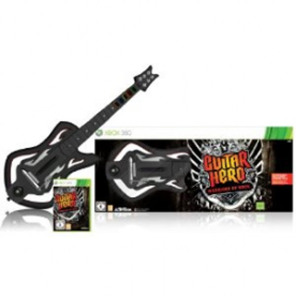 Guitar Hero 6 Warriors of Rock Game Includes Wireless Guitar Controller Xbox 360