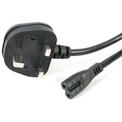 StarTech 2 Slot Laptop Power Cable 1.8m (UK Plug)