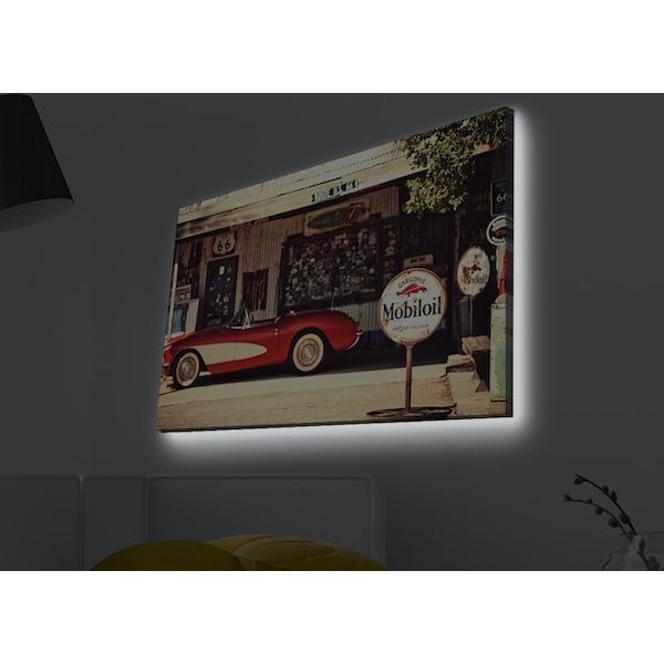 4570MDACT-026 Multicolor Decorative Led Lighted Canvas Painting