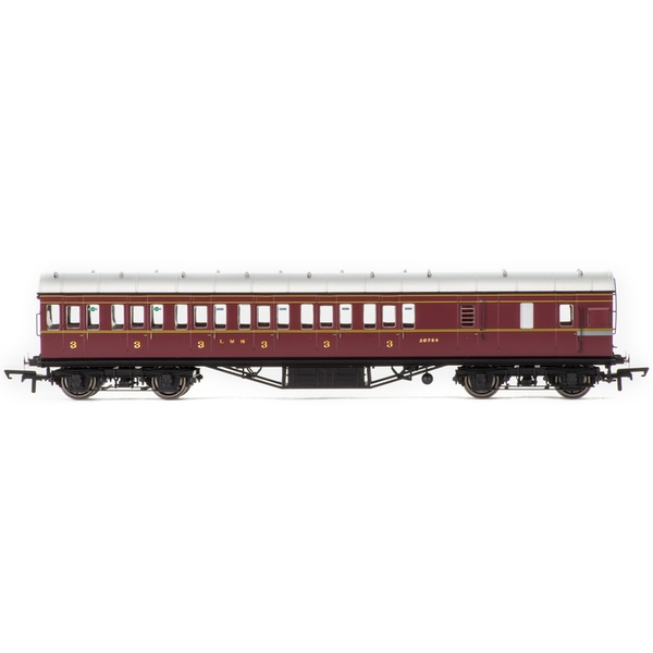 Hornby LMS Period III Non-Corridor 57' Third Class Brake 20754 Era 3 Model Train