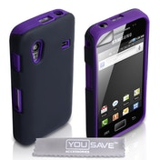 YouSave Accessories Samsung Galaxy Ace Dual Combo Case - Purple