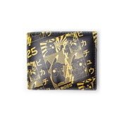 Pokemon - Pikachu Manga Men's Bi-Fold Wallet - Black/Yellow