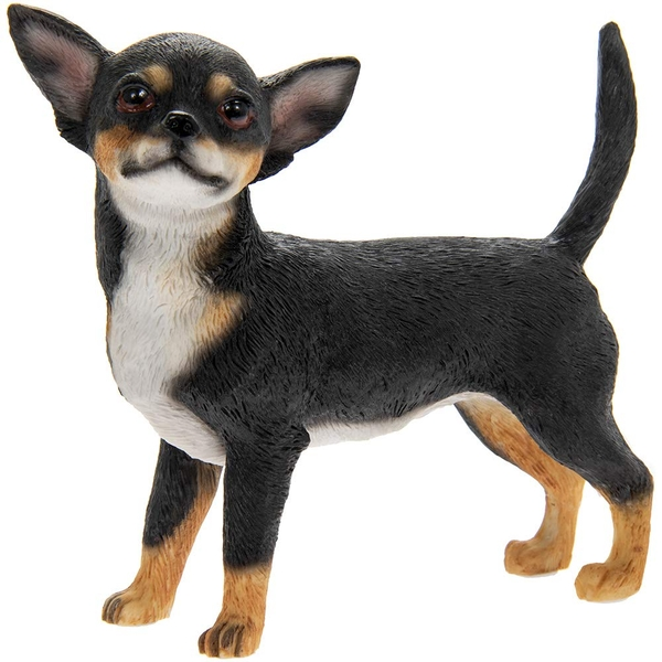 Chihuahua Black & Tan Figurine By Lesser & Pavey