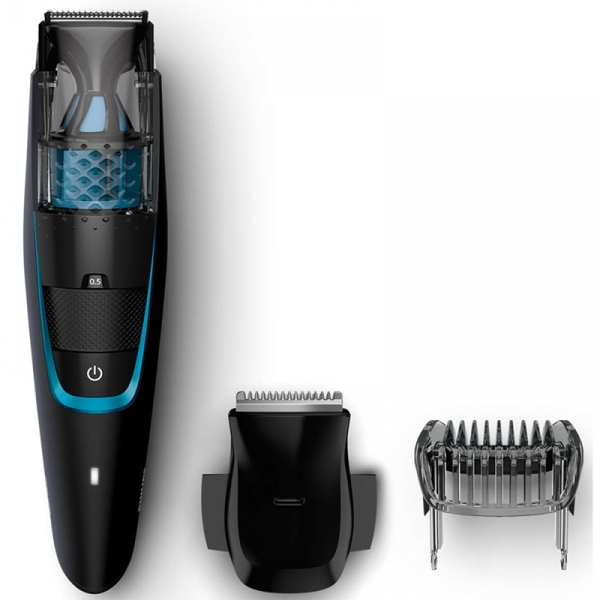 Philips Beard & Stubble Trimmer with Integrated Vacuum System UK Plug