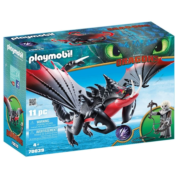 Playmobil - DreamWorks Dragons Deathgripper with Grimmel Figure