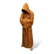 Star Wars Jedi Fleece Robe Tan Logo Adult Large